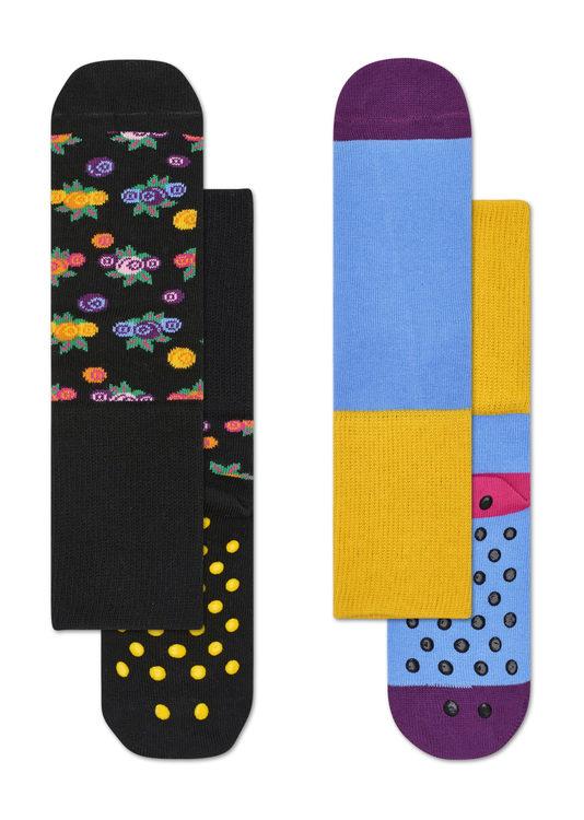 2-Pack Berry Anti-Slip Socks Multi