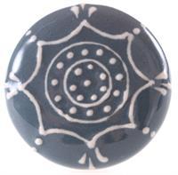 Knopp blå med mönster