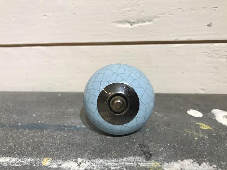 Knopp blå med krackeleringar