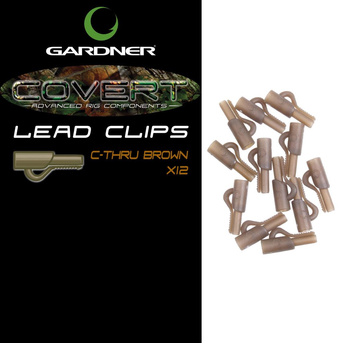 Gardner Covert Lead Clips C-Thru Green