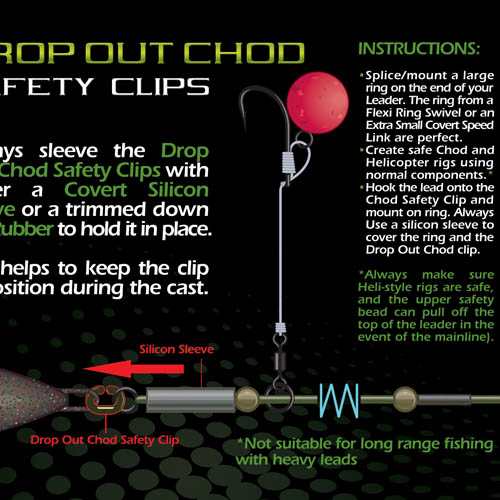 Gardner Drop Out Chod Safety Clips