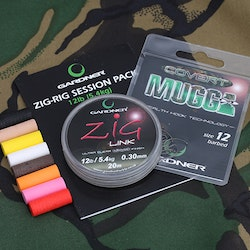 Gardner Zig Rig Session Pack Barbed/ 12lb