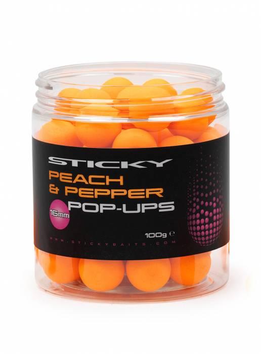 STICKY BAITS PEACH & PEPPER Pop up 16mm