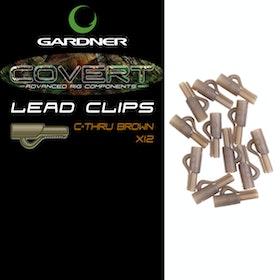 Gardner Covert Lead Clips C-Thru Brown