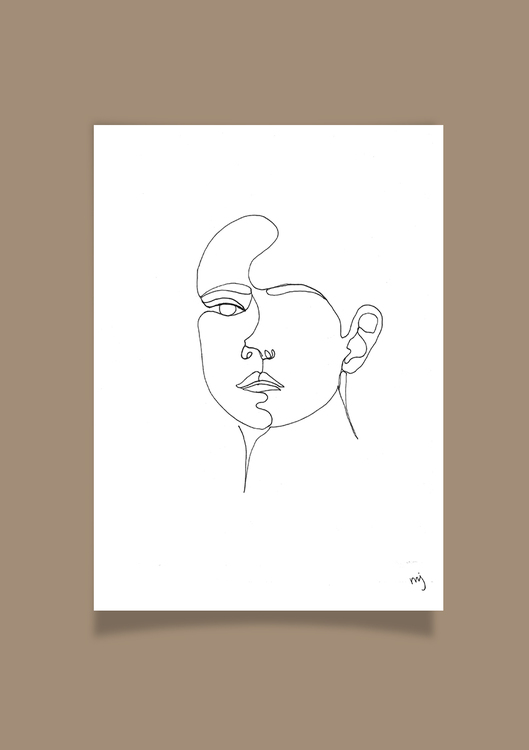 One line Girl