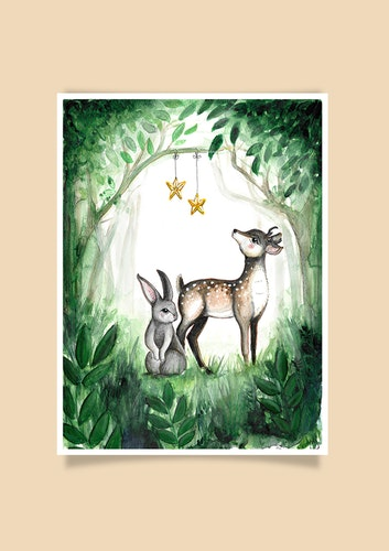 Stars in the forest