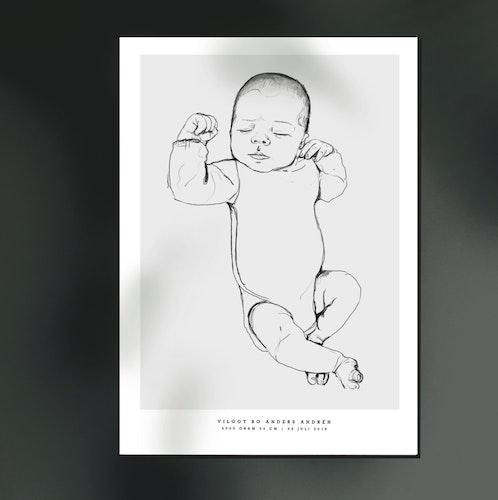 Födelsetavla skala 1:1