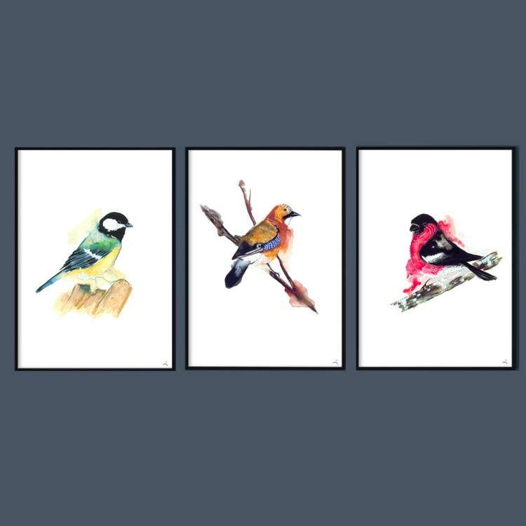 Tre småfåglar