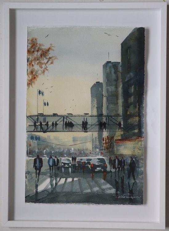 Örgytevägen , Gothia towers , Göteborg, Akvarell