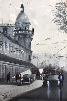 Södra Larmgatan , Göteborg Akvarell