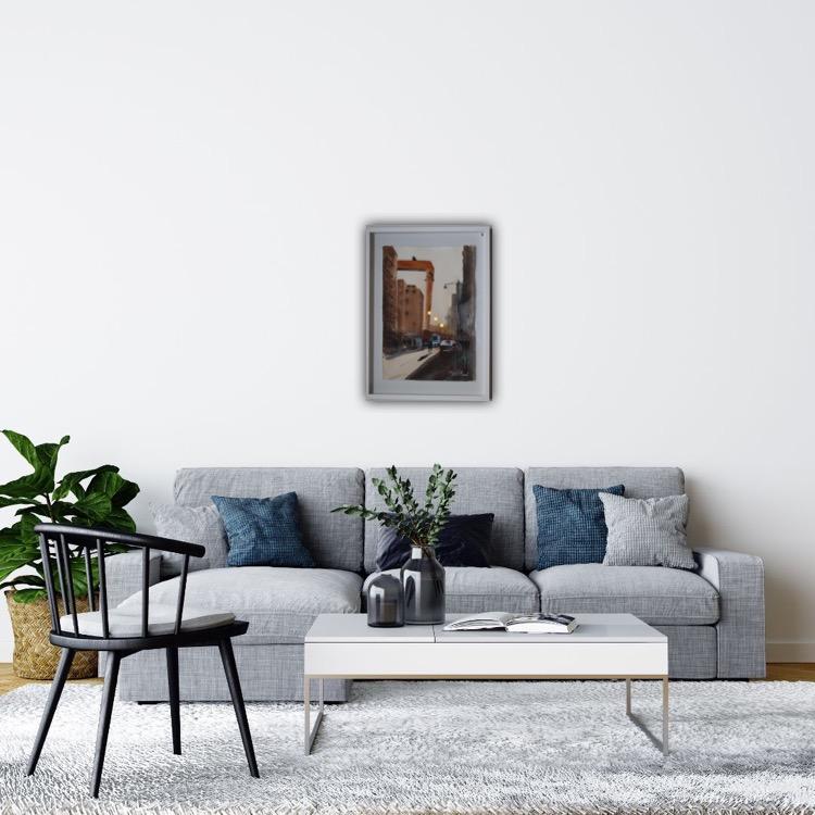 Bockkranen , Eriksberg , Göteborg , Akvarell
