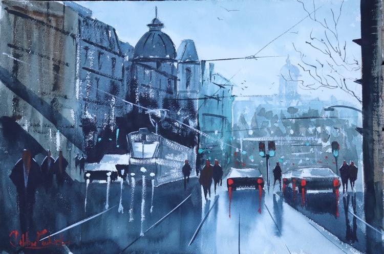 Aschebergsgatan, Göteborg, Finns på Rivercity gallery, pris 6500 kr