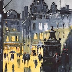 Stortorget Gamla Stan ,  Original Akvarell, Gör en stockholmare glad