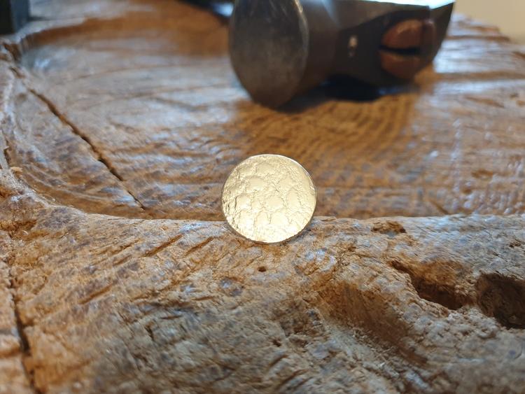 Silverring med platta