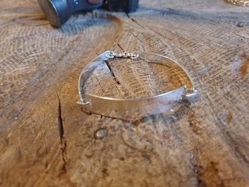Silverarmband tre delar