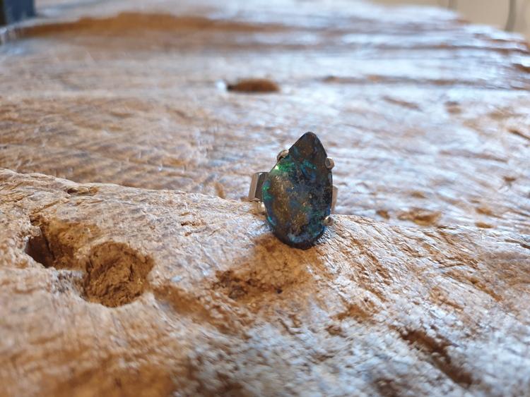 Silverring med opal