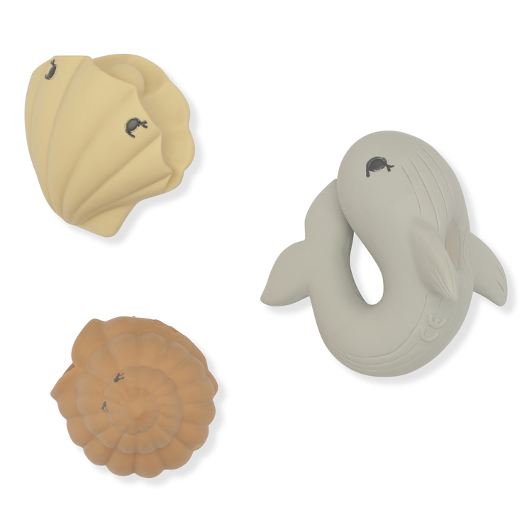 Bath Toys Ocean - Whale / Shell / Clam - Konges Slöjd