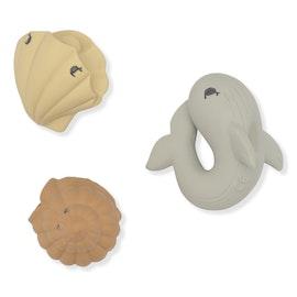 Bath Toys Ocean - Whale / Shell / Clam - Konges Slöjd