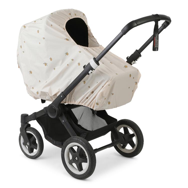 Regnskydd till barnvagn i lemon - Konges Slöjd