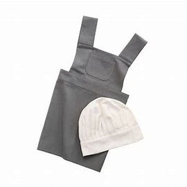 Förkläde och kockmössa - Sebra