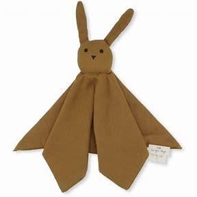Konges Slöjd sleppy rabbit Dark honey, snuttefilt
