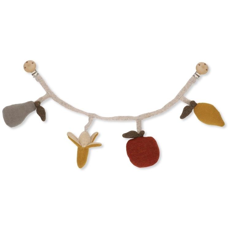 Barnvagnsgardin Fruit Pram Chain - Konges Slöjd