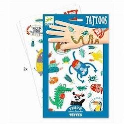 Barnvänliga tattoos, Djungel djur