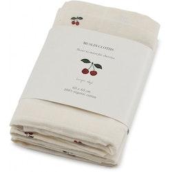 3-pack muslin filtar Cherry - Konges Slöjd
