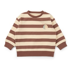 Lou Sweatshirt Striped Fig Brown- Konges Slöjd