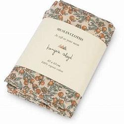 3-pack muslin filtar orangery beige  - Konges Slöjd