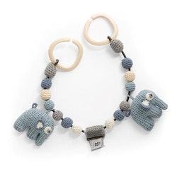 Barnvagnsgardin Elefanter - Sebra