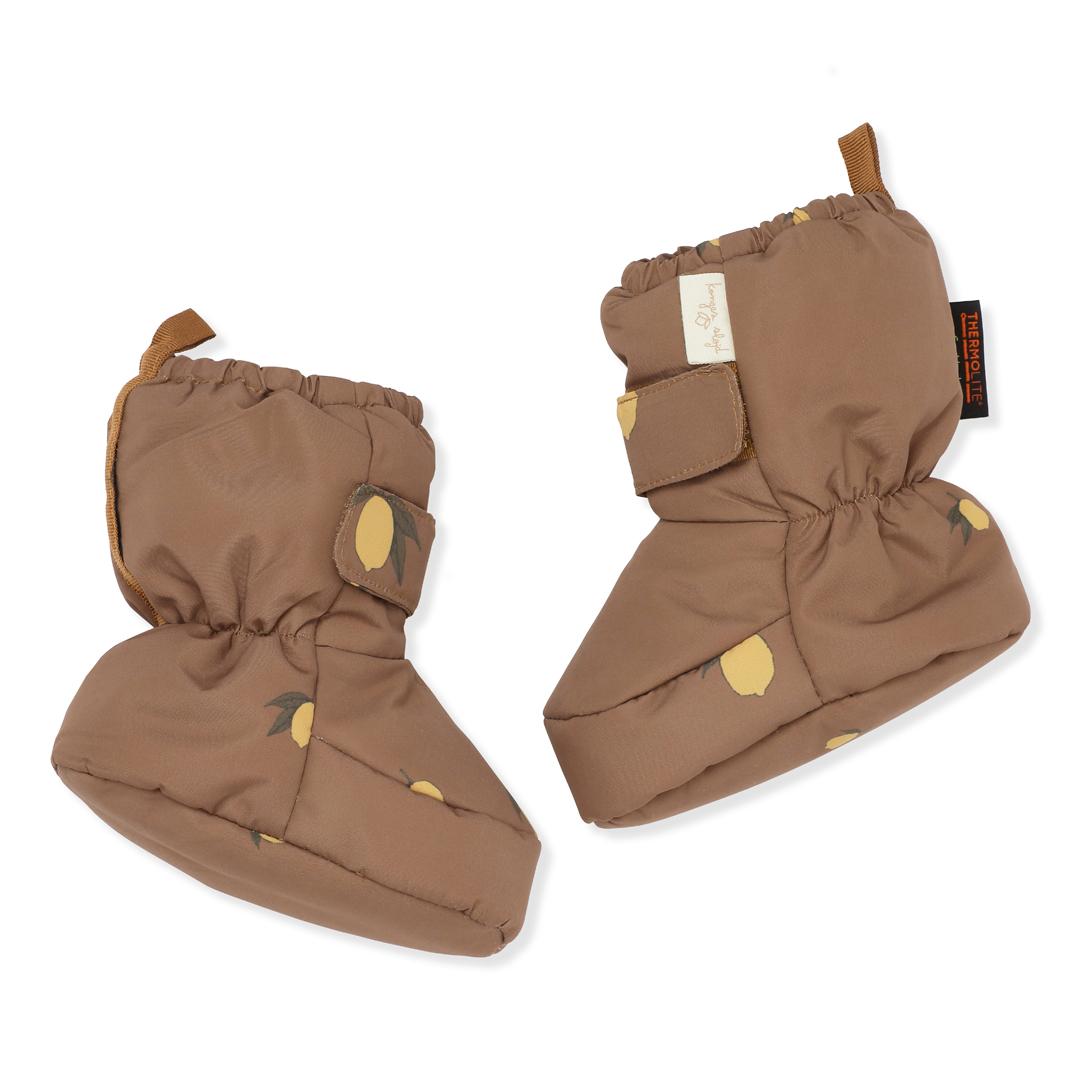 Baby Snow Boots Lemon Brown - Konges Slöjd