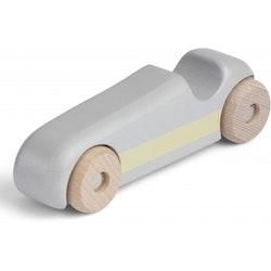Wood race car warm grey - Konges Slöjd