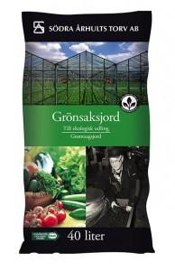 3 X Ekologisk grönsaksjord 40 L
