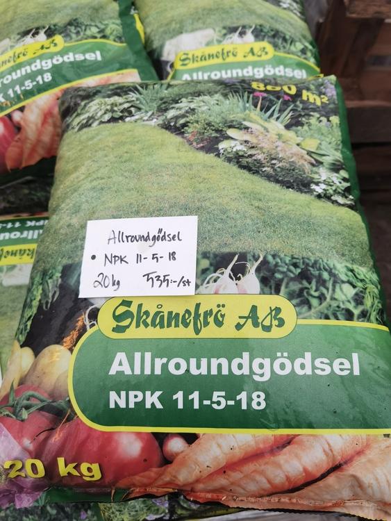 Allround gödsel, 20 kg