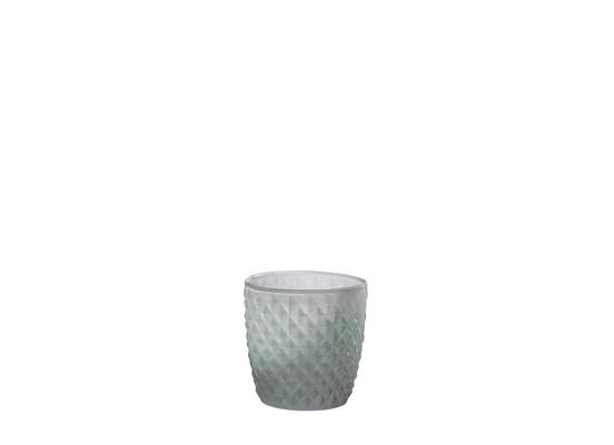 Manzano rund glas kruka