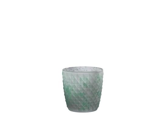 Manzano rund glas kruka, stor