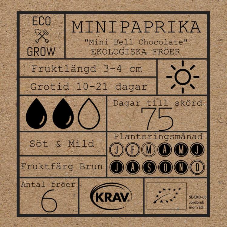 Mini Paprika - Mini Bell Chocolate