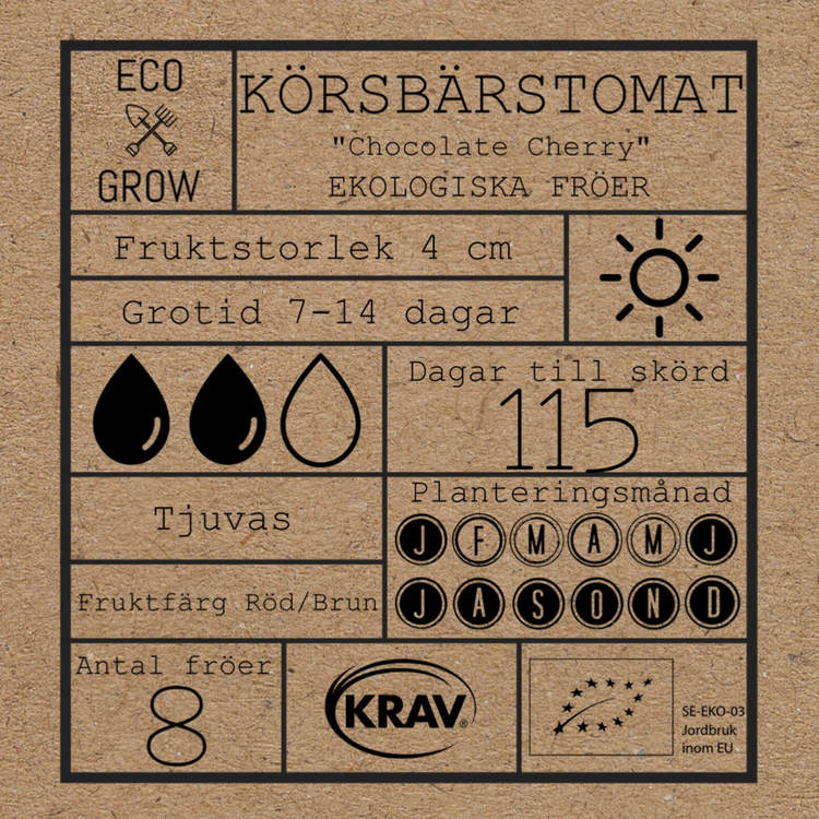 Körsbärstomat - Chocolate Cherry