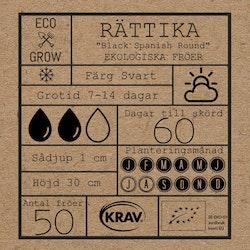 Rättika - Black Spanish Round