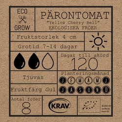 Pärontomat - Yellow Cherry Bell