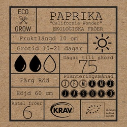 Paprika - California Wonder
