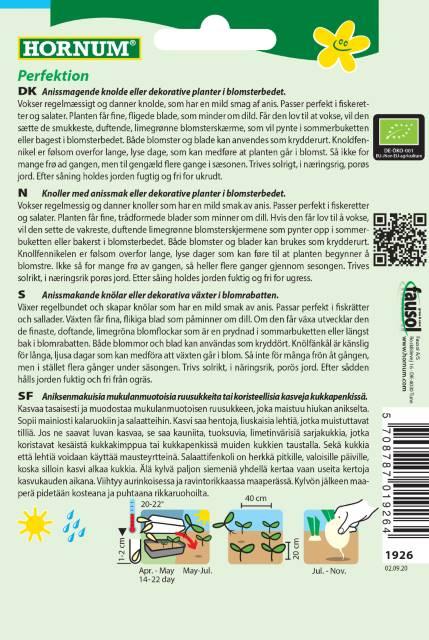 Fänkål (Eko) - Hornum frø