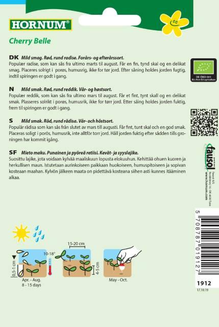 Rädisa (EKO) - Hornum frø