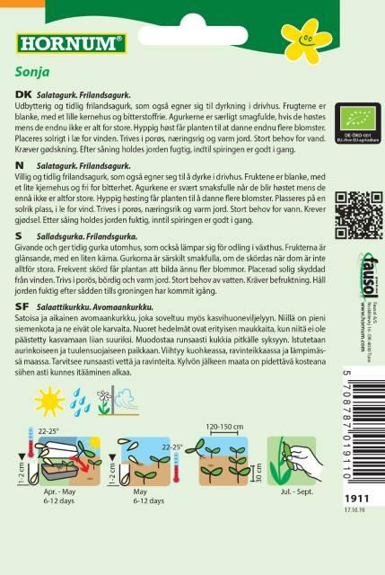 Sallads gurka (EKO) - Hornum Frø