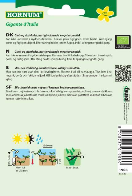 Slätbladig persilja (EKO) - Hornum frø
