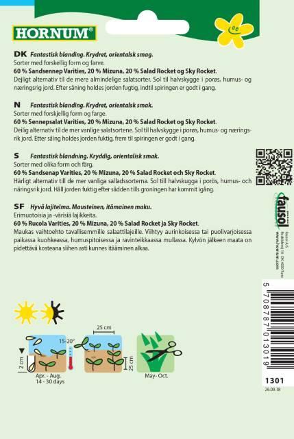 Plocksallad Mix - Asia Spicy green Mix