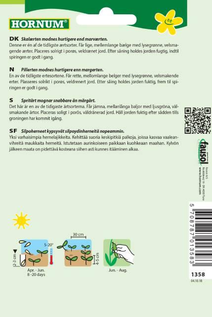Låg Spritärt - Frühe Harzerin