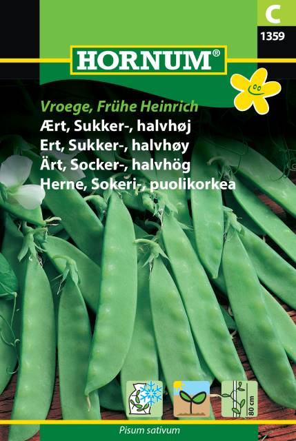 Halvhög Sockerärt - Vroege, Frühe Heinrich
