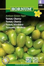 Körsbärstomat - Artisian Green Tiger